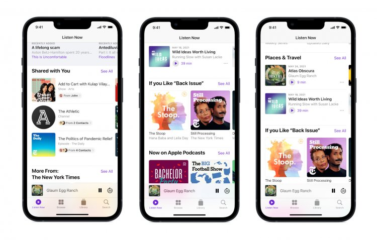 Apple adds new personalized recommendations in Podcasts' Listen Now page